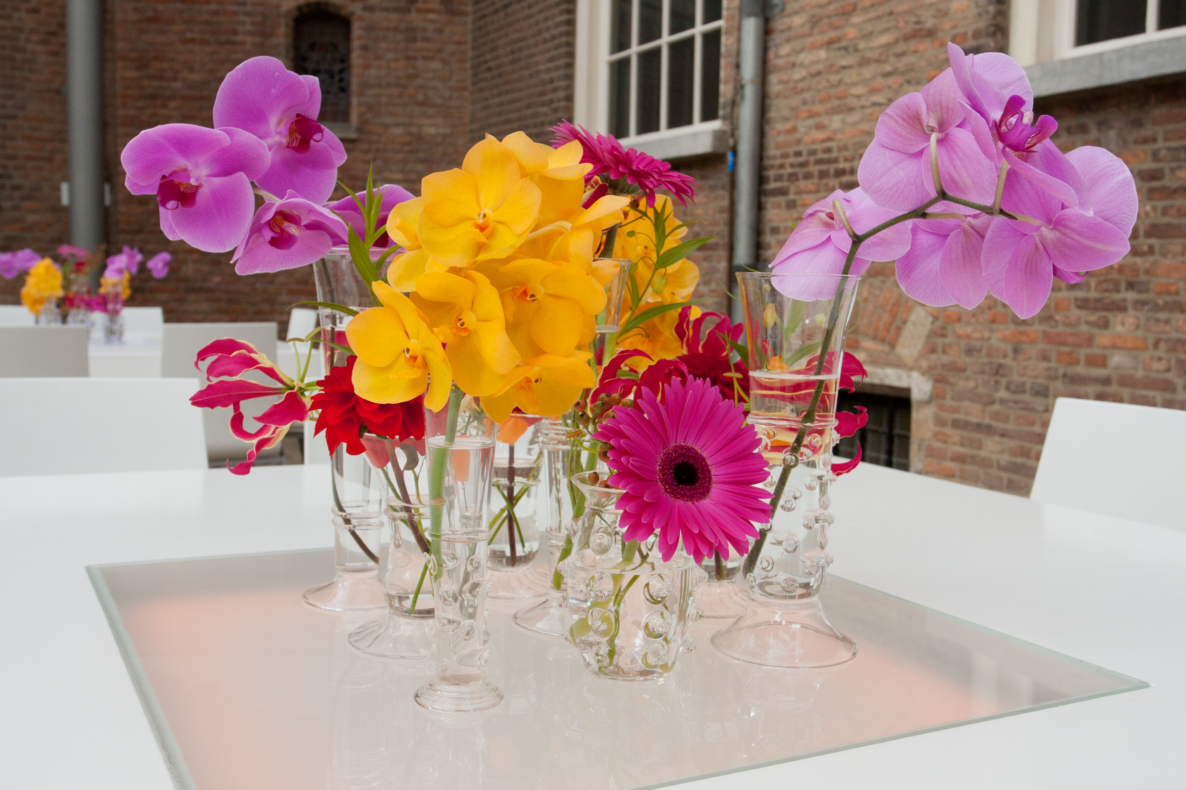 Mandelezaal bloemen